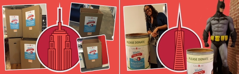 Cater2.me Cares Winter Food Drive: New York & San Francisco