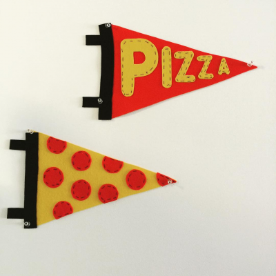 Office Pizza Pennants