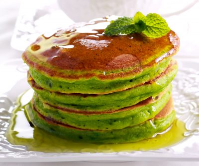 Green St. Patrick's Day Pancakes
