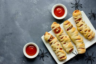 Mummies In A Blanket - Halloween Treats