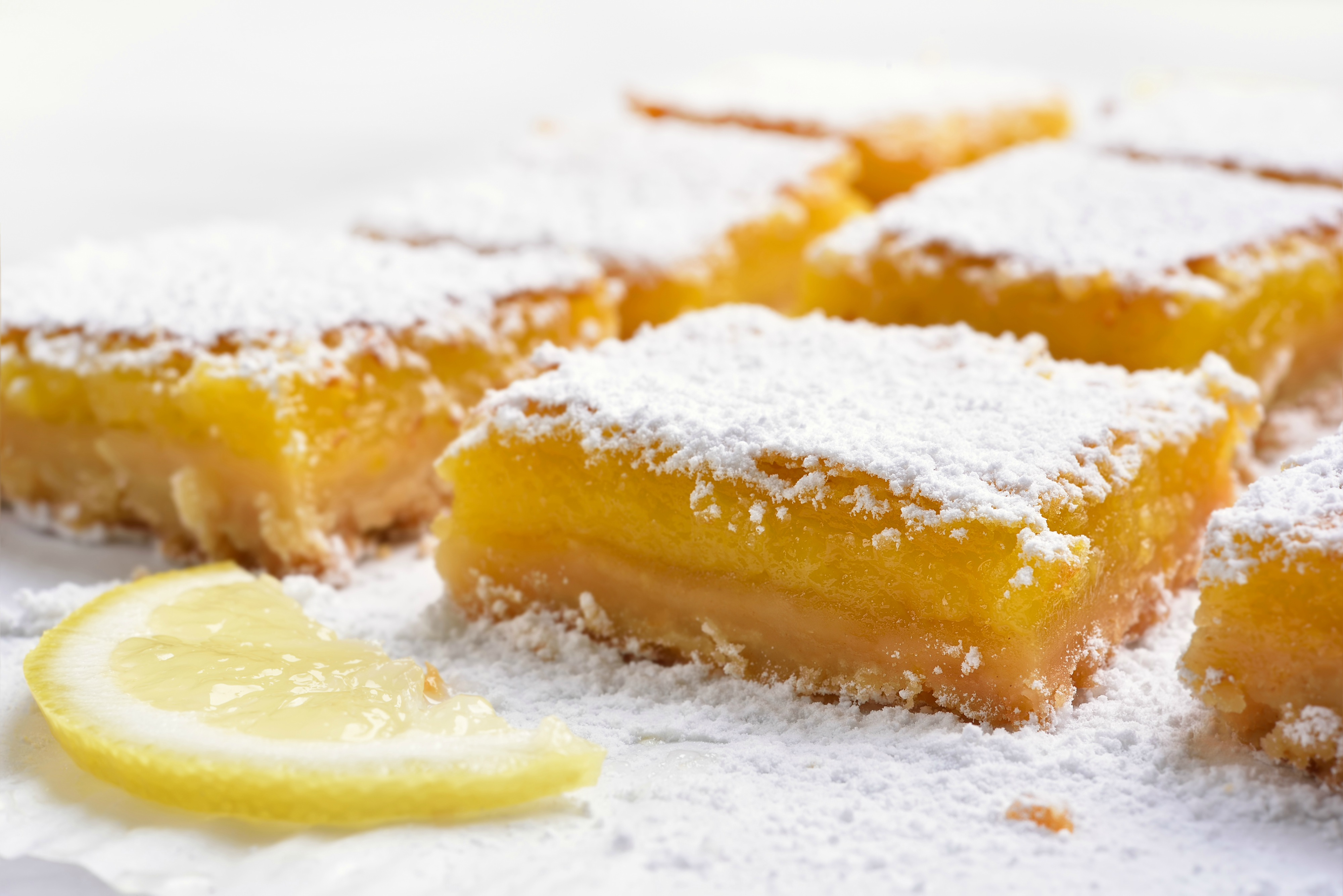 Lemon Bars - Lighter Holiday Menu