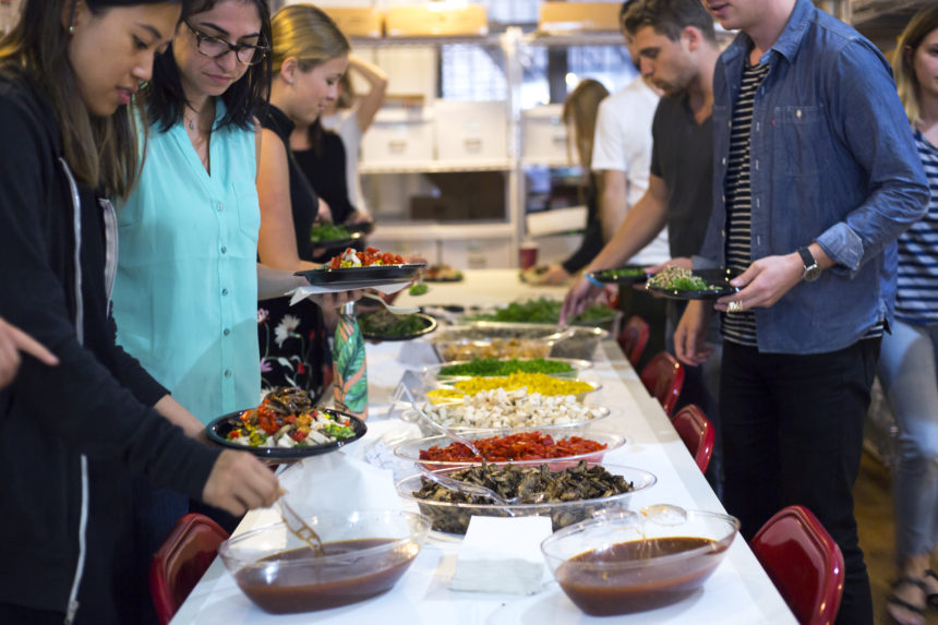 Office Lunch Catering Salad Bar