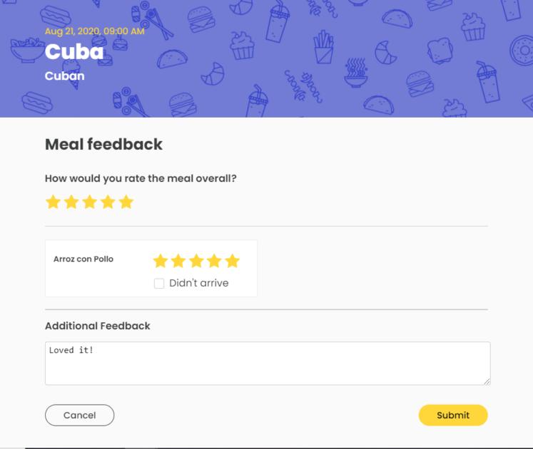 meal feedback